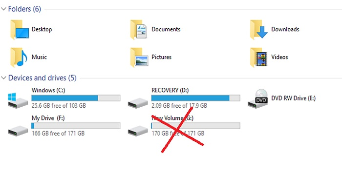 how to delete partition of external hard disk